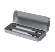 Набір ручка + олівець в металевому футлярі