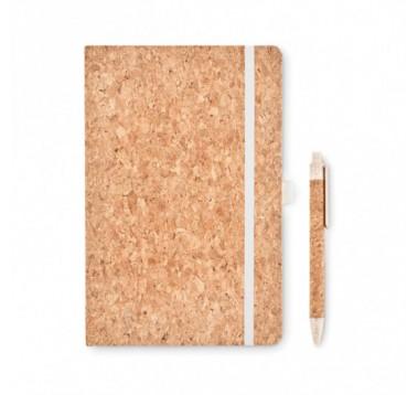 Еко блокнот А5 з ручкою Suber Set