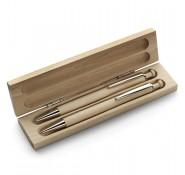 Набір ручка + олівець в дерев'яному футлярі