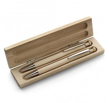 Набір ручка + олівець в дерев'яному футлярі Es-955741