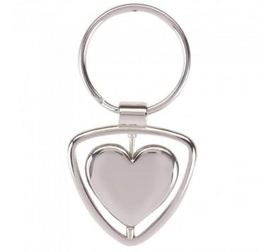 Брелок металевий Серце Es-904079