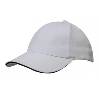 Кепка Brushed Cotton Cap with Trim 4210 /Headwear/