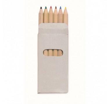 Кольорові олівці 6 штук Abigail