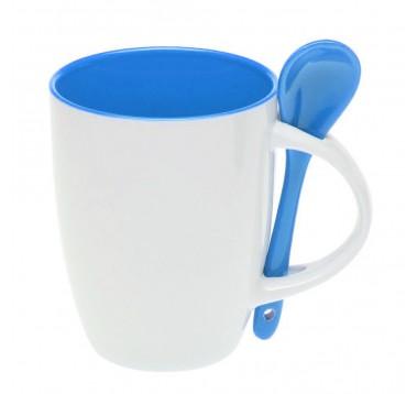 Набір чашка з ложкою 300 мл Es-882102