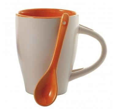 Набір чашка 300 мл з ложкою Es-952855